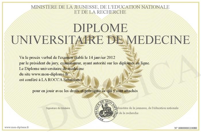 diplome universitaire medecine