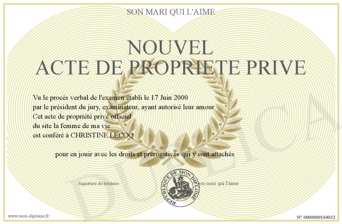 Nouvel acte de propriete prive - Acte de propriete belgique ...