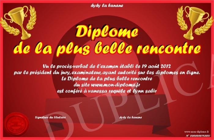 Préférence Diplome-de-la-plus-belle-rencontre EL54