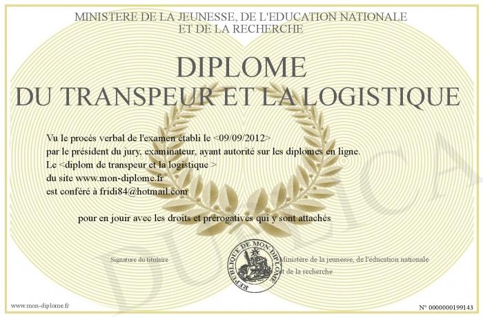 diplome logistique
