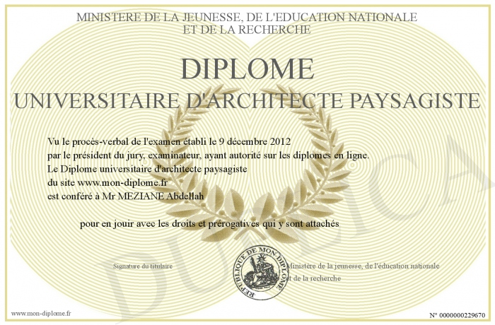 Diplome Universitaire D Architecte Paysagiste