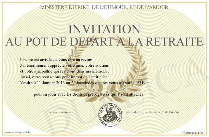 Invitation Pot De Depart Steadlane Club