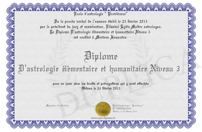 diplome humanitaire