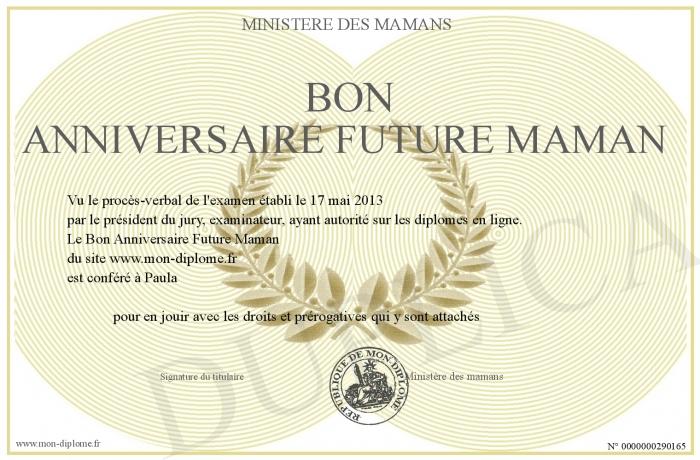 Bon Anniversaire Future Maman