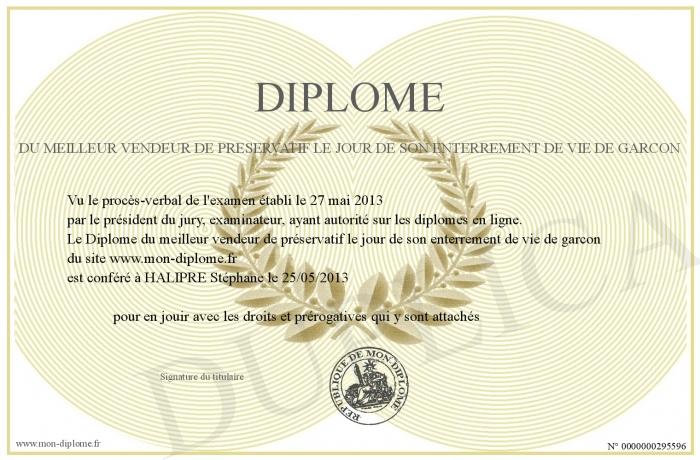 Relativ Diplome-du-meilleur-vendeur-de-preservatif-le-jour-de-son  VH78