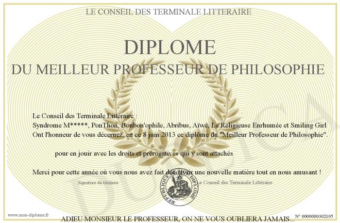 diplome universitaire philosophie