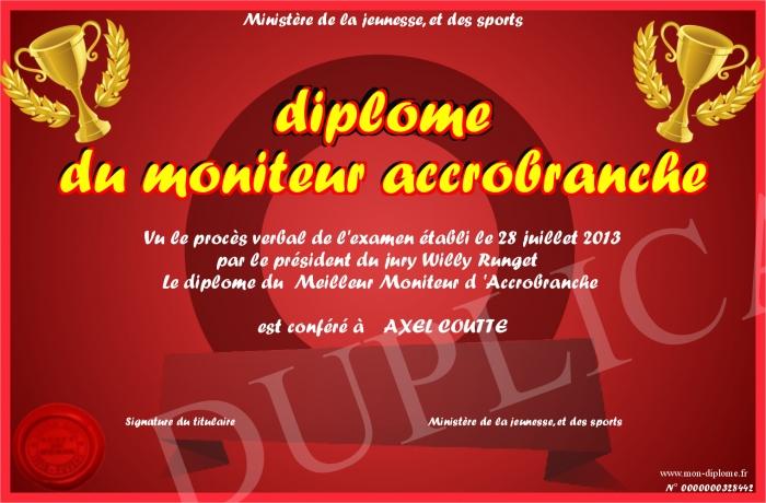 Diplome du moniteur accrobranche for Meilleur moniteur