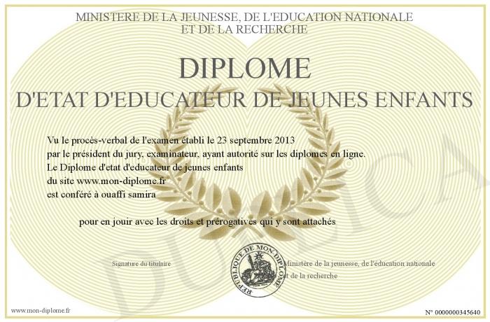 Diplome d etat d educateur de jeunes enfants for Educateur de jeunes enfants