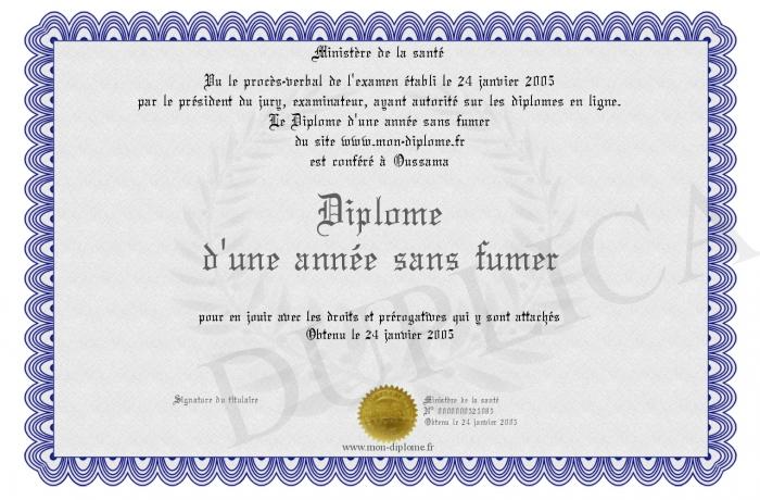 Diplome d une annee sans fumer - Gardien d immeuble sans diplome ...