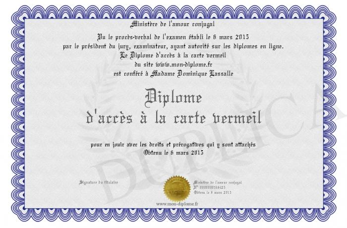 Carte Vermeil Age.Diplome D Acces A La Carte Vermeil