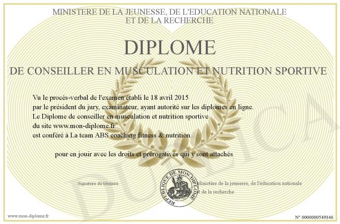 diplome universitaire nutrition du sportif