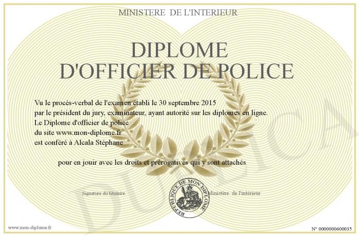 Diplome D Officier De Police