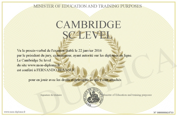 diplome de cambridge
