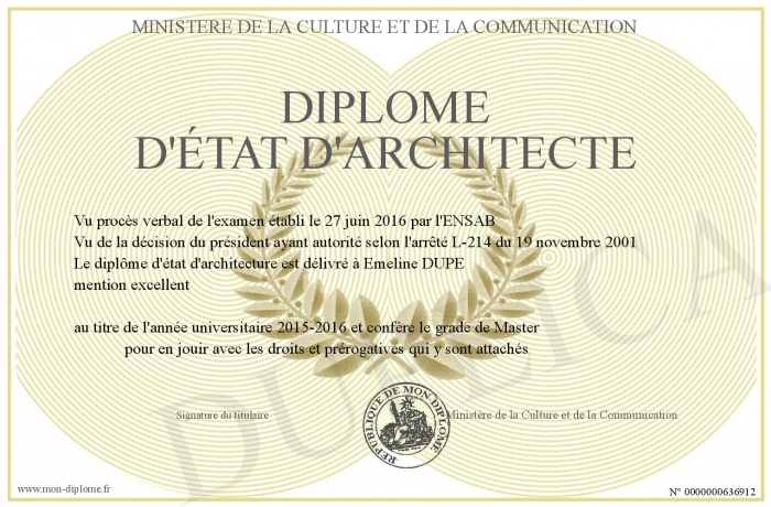 architecte d interieur diplome