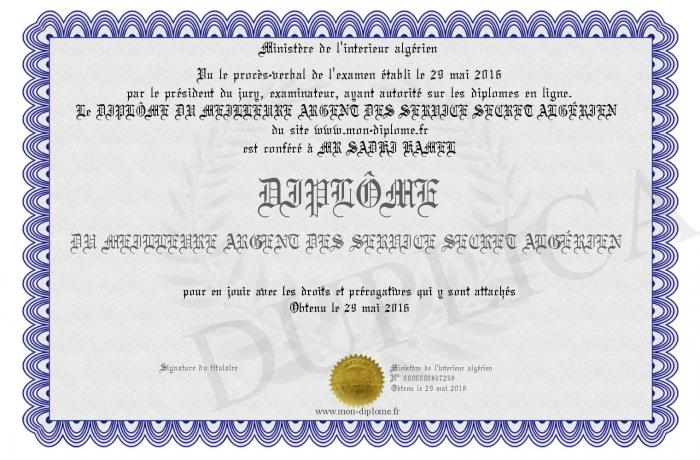 Dipl me du meilleure argent des service secret alg rien - Service a the algerien ...