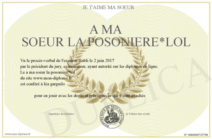 A Ma Soeur La Posonierelol