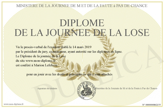 Diplome-de-la-journee-de-la-Lose