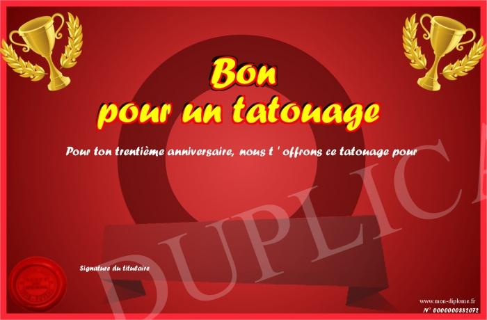 Bon Pour Un Tatouage