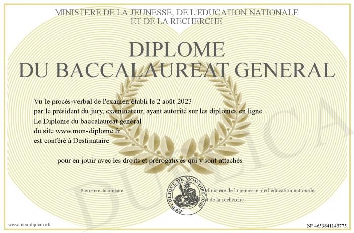 Diplome personnalise
